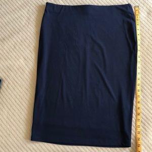 Blue stretchy pencil skirt